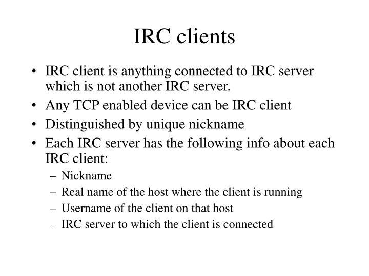 IRC clients
