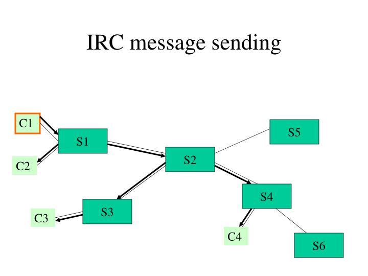 IRC message sending