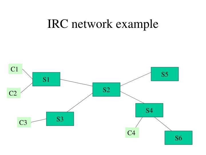 IRC network example