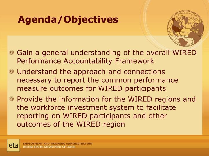 Agenda/Objectives
