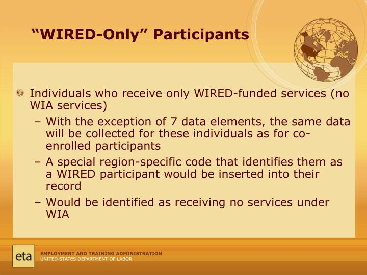 """""""WIRED-Only"""" Participants"""
