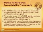 wired performance accountability framework