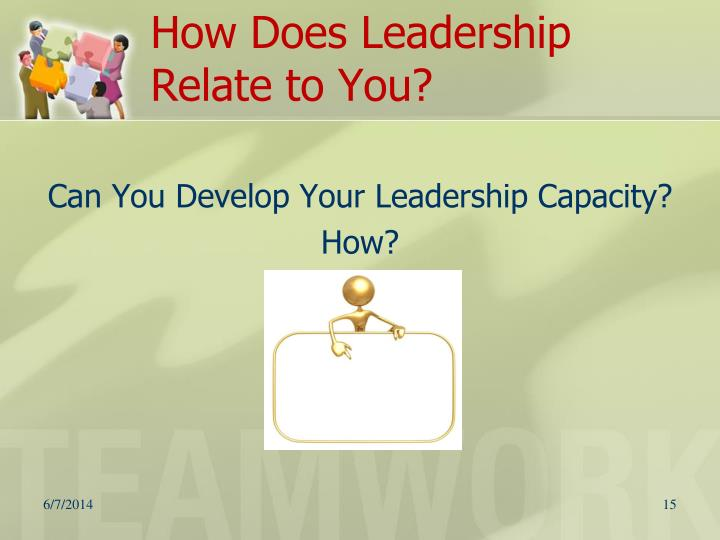 How Does Leadership Relate to You?