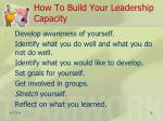 how to build your leadership capacity1