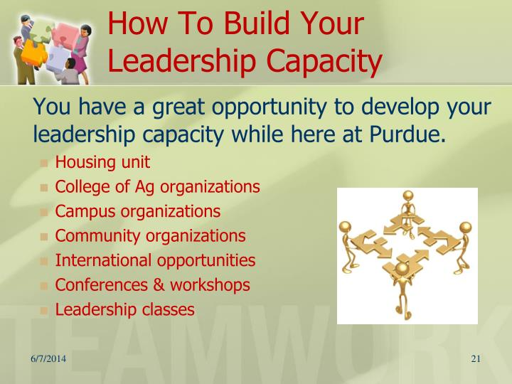 How To Build Your Leadership Capacity