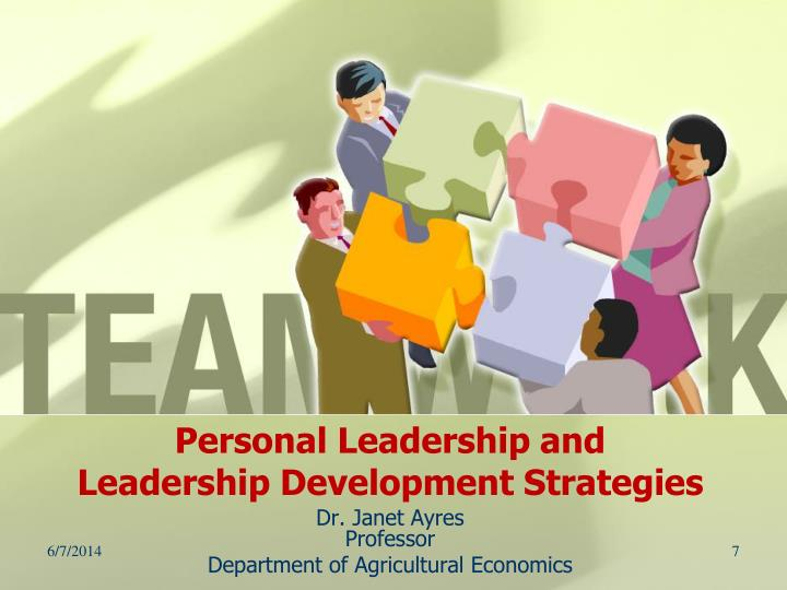Personal Leadership and