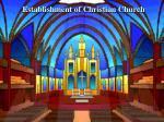 establishment of christian church
