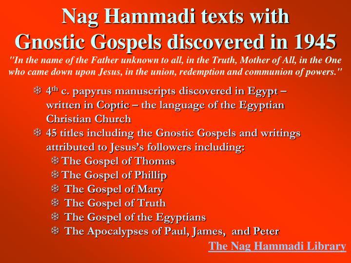 Nag Hammadi texts with