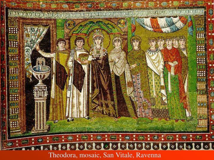 Theodora, mosaic, San Vitale, Ravenna