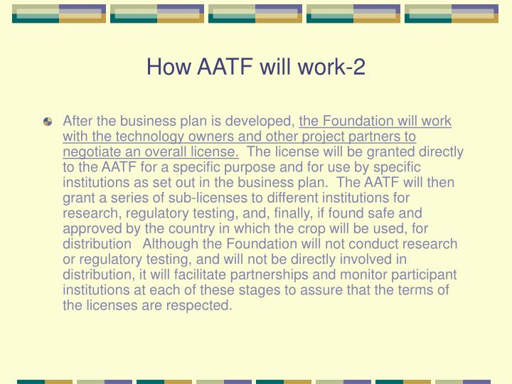 How AATF will work-2