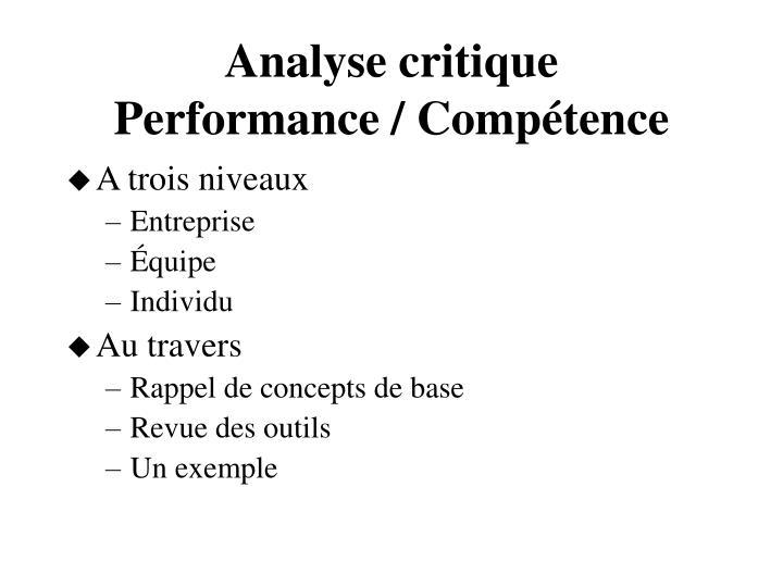 Analyse critique
