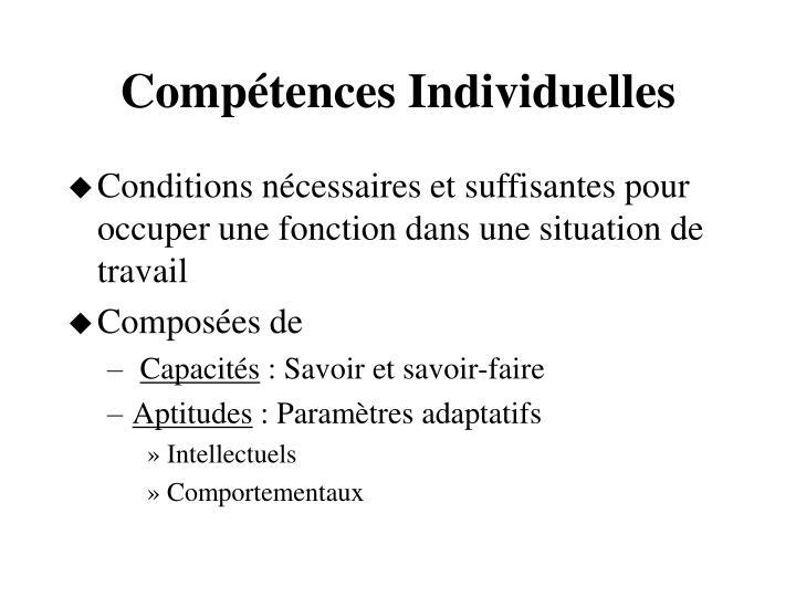 Compétences Individuelles