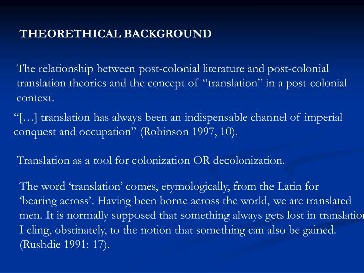 THEORETHICAL BACKGROUND