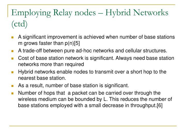 Employing Relay nodes – Hybrid Networks (ctd)