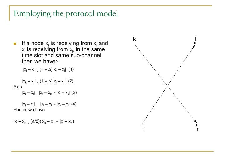 Employing the protocol model