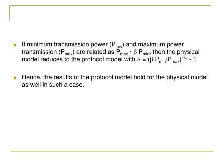 If minimum transmission power (P