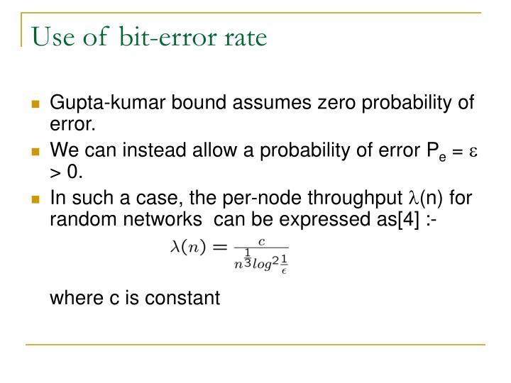 Use of bit-error rate