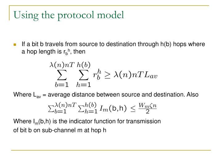 Using the protocol model
