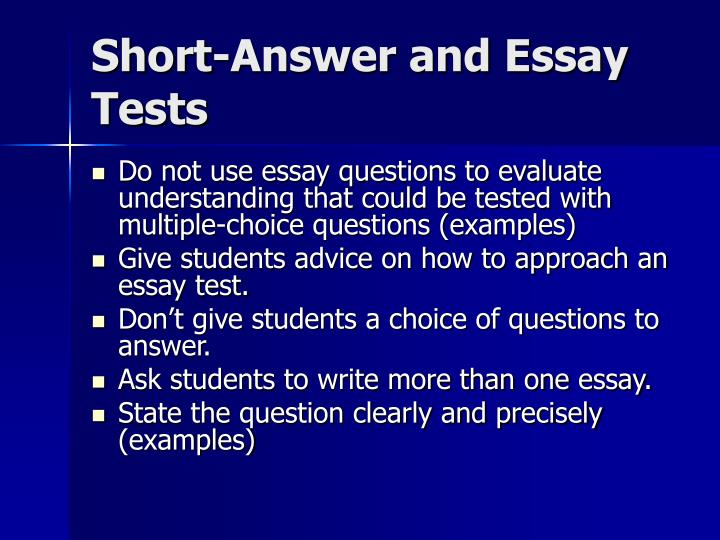 Short-Answer and Essay Tests