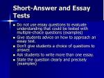 short answer and essay tests