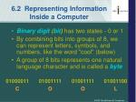 6 2 representing information inside a computer
