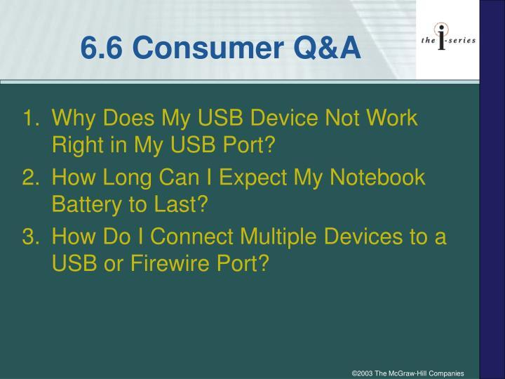 6.6 Consumer Q&A