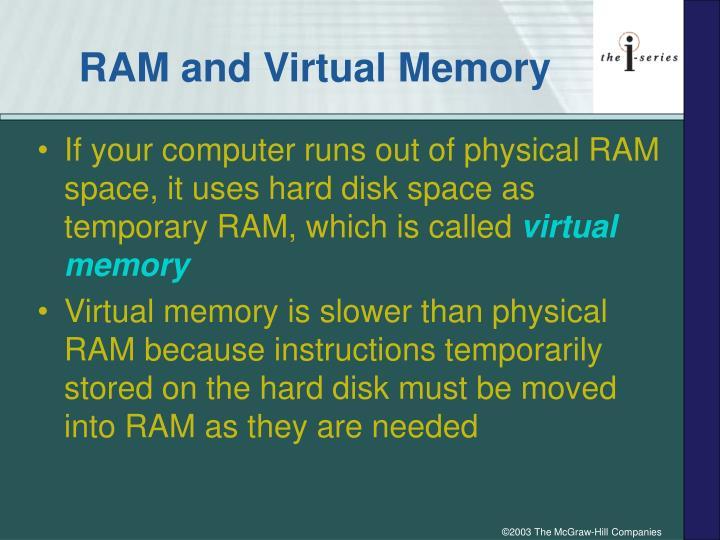 RAM and Virtual Memory