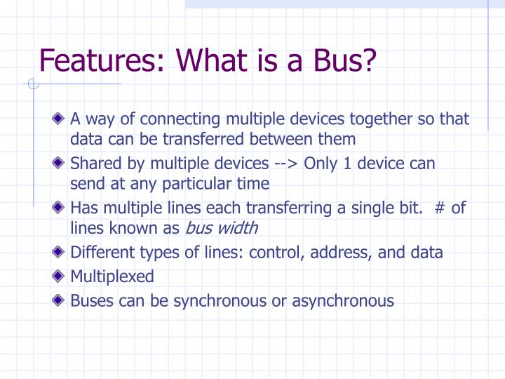 Features: What is a Bus?