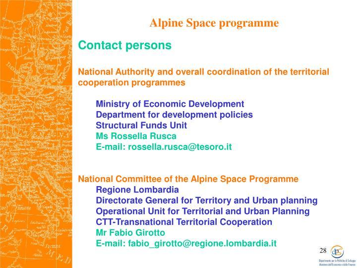 Alpine Space programme