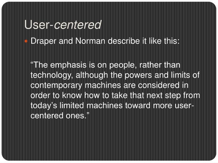 User-