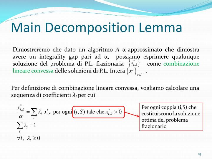 Main Decomposition