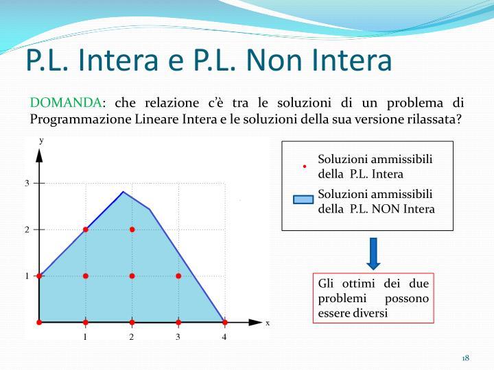 P.L. Intera e P.L. Non Intera