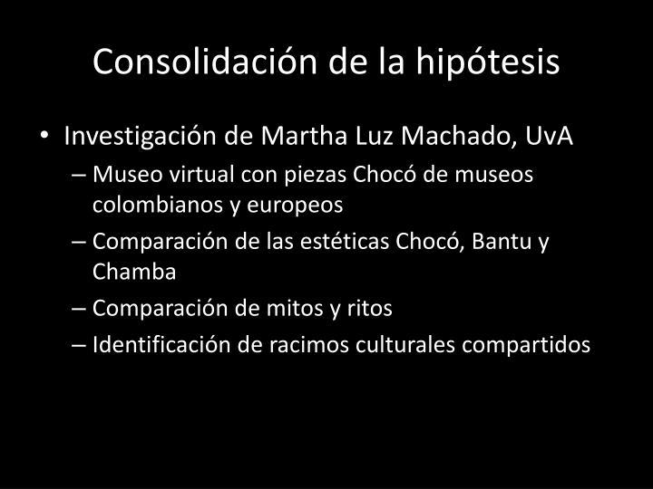 Consolidación de la hipótesis