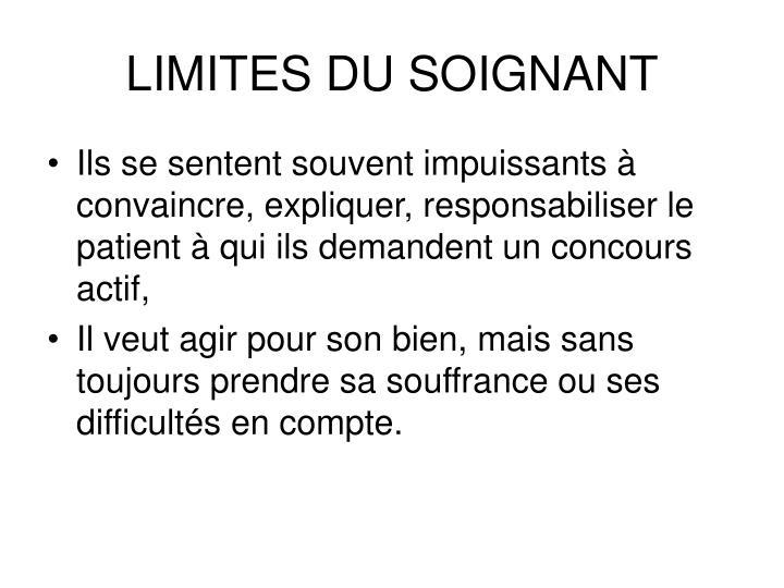 LIMITES DU SOIGNANT