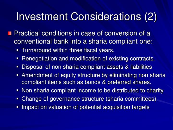 Investment Considerations (2)