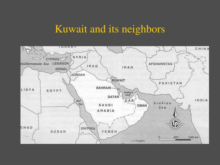 Kuwait and its neighbors