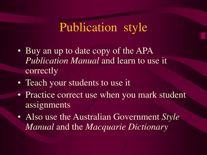 Publication  style