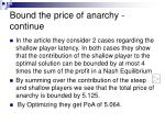 bound the price of anarchy continue2