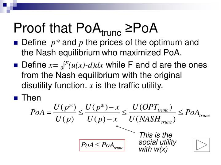 Proof that PoA