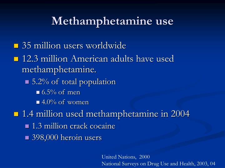 Methamphetamine use