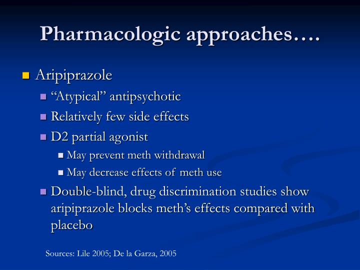 Pharmacologic approaches….