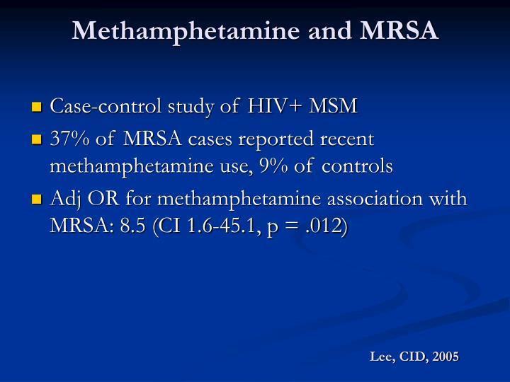 Methamphetamine and MRSA