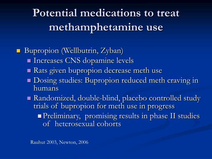 Potential medications to treat methamphetamine use