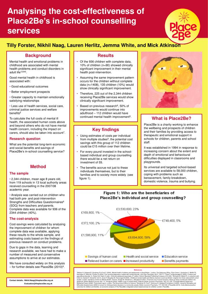 Analysing the cost-effectiveness of Place2Be's in-school counselling services