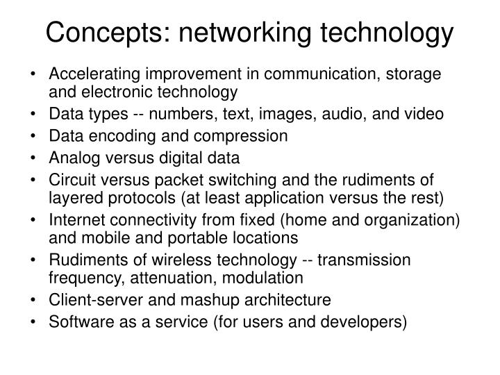 Concepts: networking technology