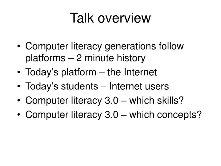 Computer literacy generations follow platforms – 2 minute history