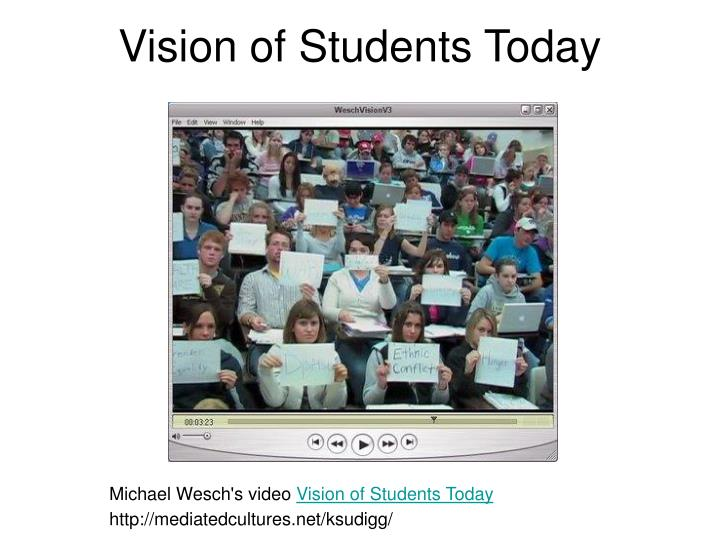 Vision of Students Today