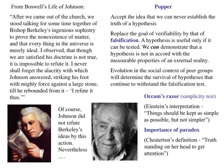 From Boswell's Life of Johnson: