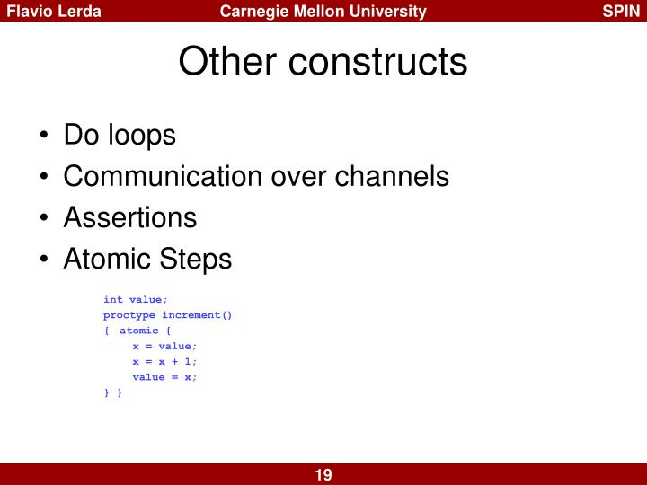 Other constructs