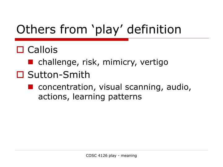 Others from 'play' definition